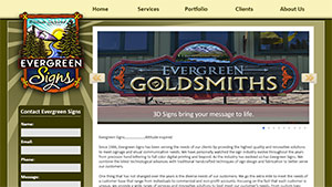 Evergreen Signs Website